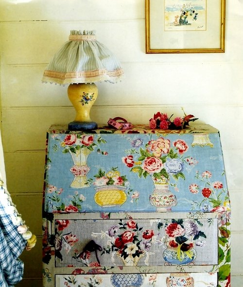 Fabric Wrapped Furniture Brocantehome